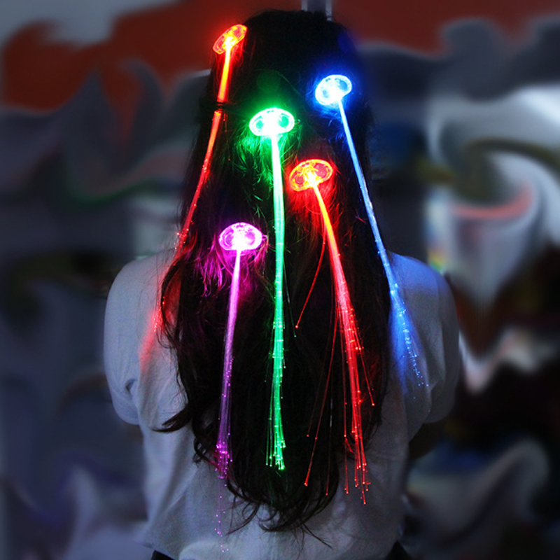 Glow Party Supplies Kind-Hearted 100pcs Glow Hair Braid White Led Hair Clip Light-emitting Fiber Optic Wire Hairpin Luminous Braids Led Party Wedding Decoration Event & Party