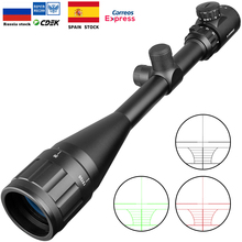 купить 6-24X50 AOE Riflescope Adjustable Green Red Dot Hunting Light Tactical Scope Reticle Optical Rifle Scope Hunting Scopes Air Gun онлайн