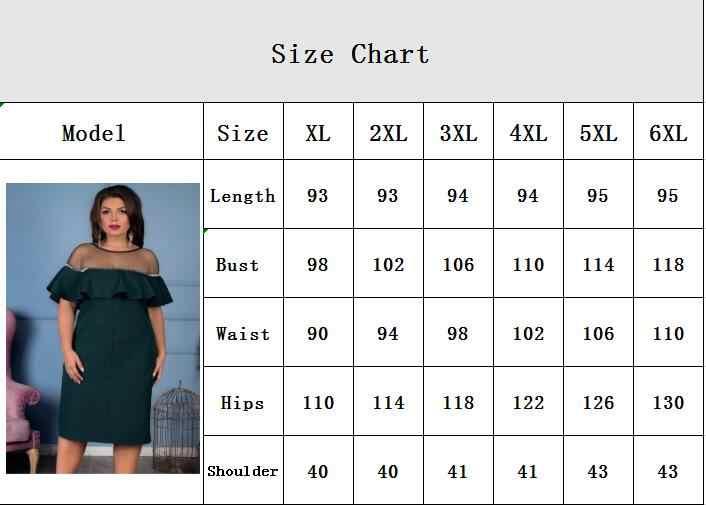 Increspature Del Manicotto del Vestito Dalla Spiaggia 2018 Donne Più di Formato del Vestito Etero Mini Vestito Da Estate 5XL 6XL di Grandi Dimensioni Vestito Da Partito Casual abiti
