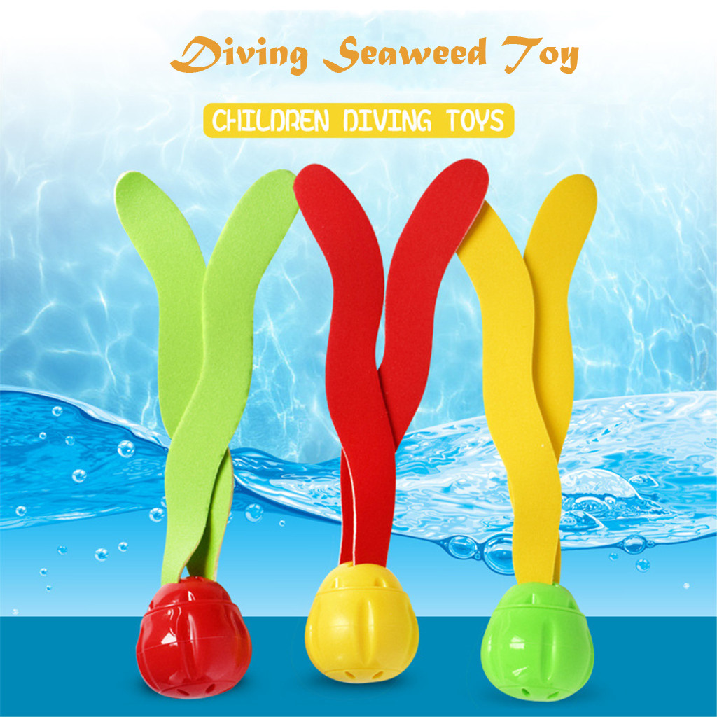 3Pcs Diving Underwater Swimming Colorful Pool Sink Training Diving Seaweed Toy S   Dece 25th3Pcs Diving Underwater Swimming Colorful Pool Sink Training Diving Seaweed Toy S   Dece 25th