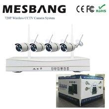 720P wifi IP camera system kits wireless CCTV camera system wifi IP security camera system 4ch