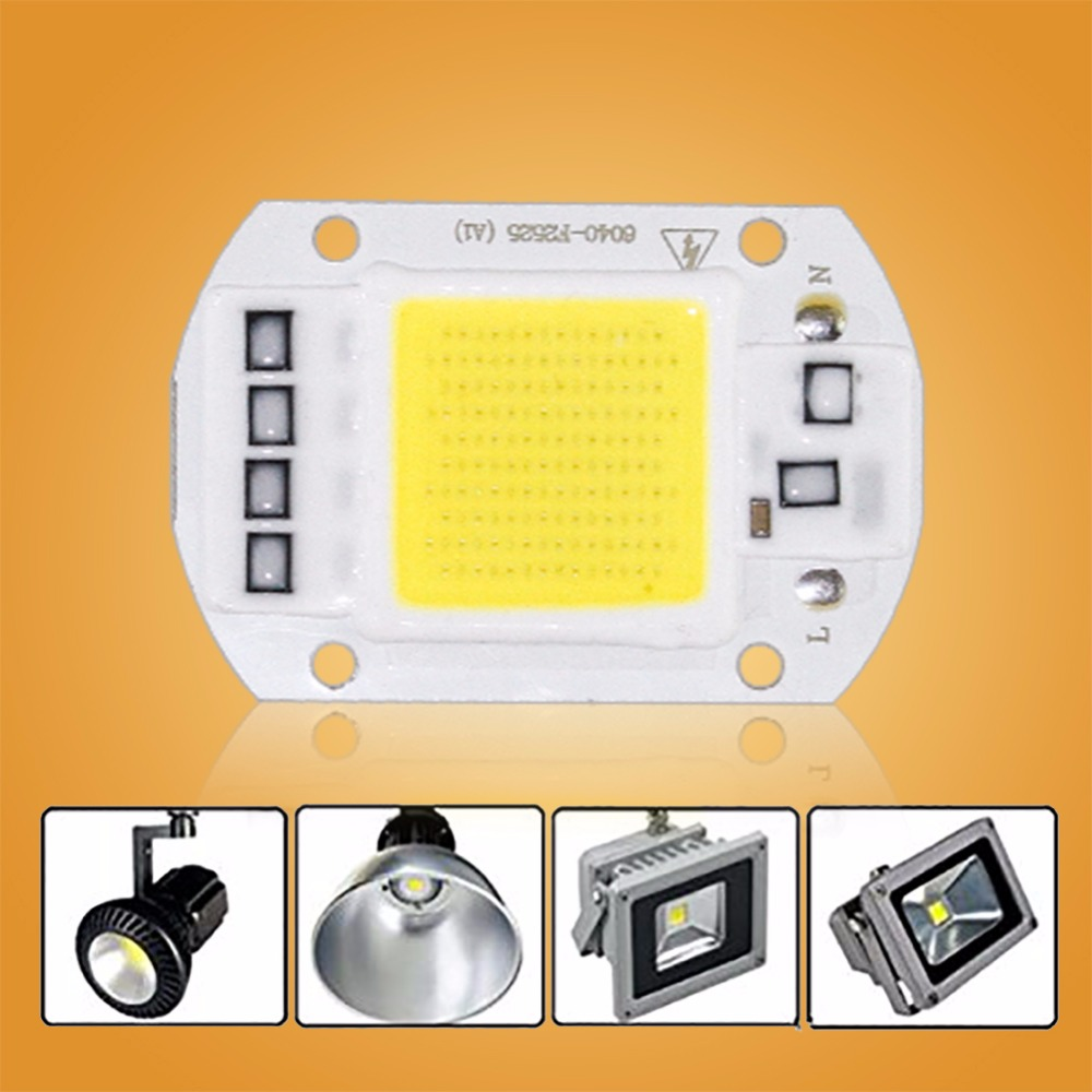 COB Lamp Chip LED Bulb Smart IC Driver DIY Spotlight Floodlight Energy Saving Outdoor 10 ...