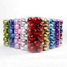 Wholesale Modern Christmas Tree Xmas Balls Decorations Baubles Party Wedding Ornament 24pcs 4cm6cm8cm