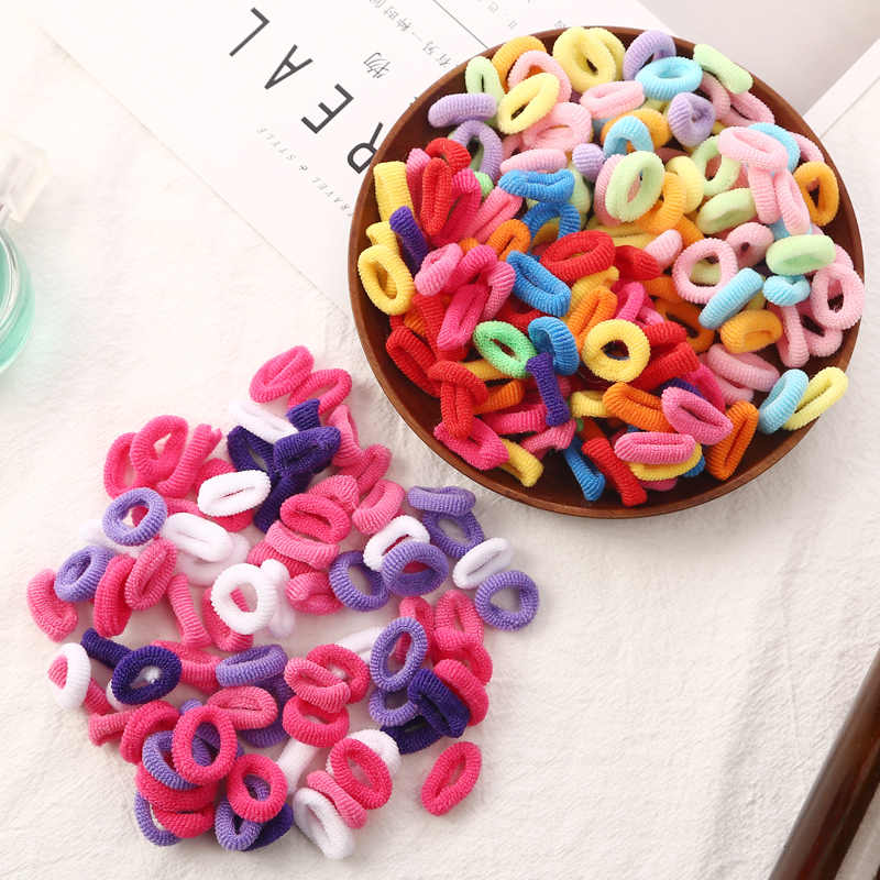 2019 NEW 80pcs/lot Head Rope Hair accessories for girls Kids elastic hair bands Colorful Child Kids Hair Holders Cute Rubber