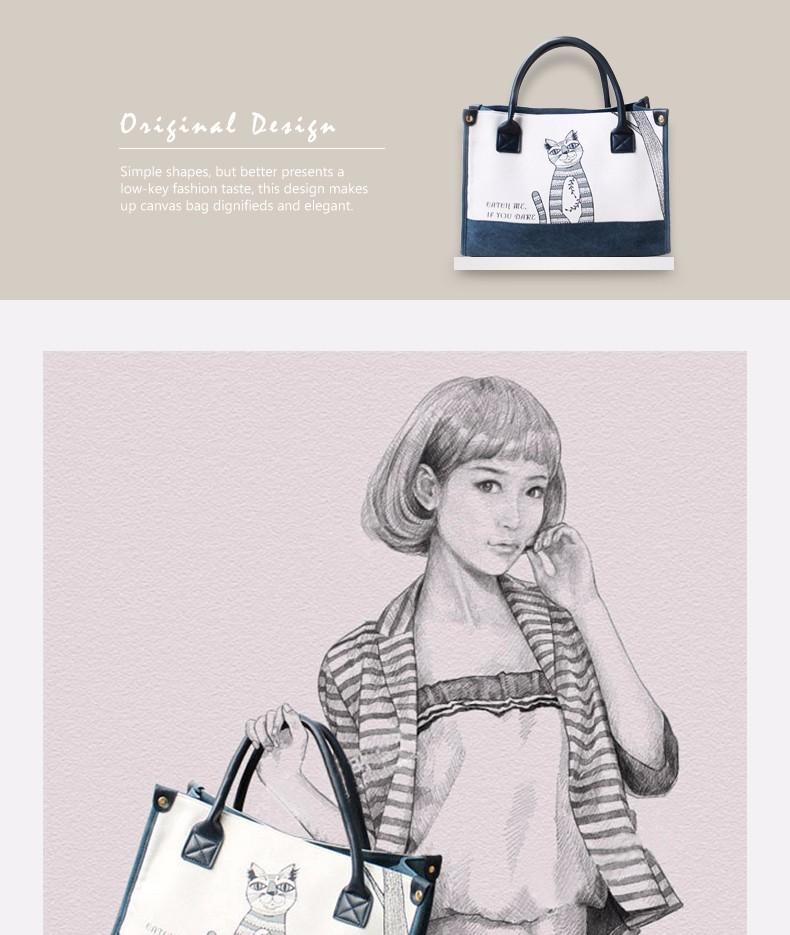 Flower Princess Canvas Cat Large Tote Bags Women Handbags Ladies Hand Bags Bolsa Feminina Bolsos Mujer Dames Tassen Borse Donna 2