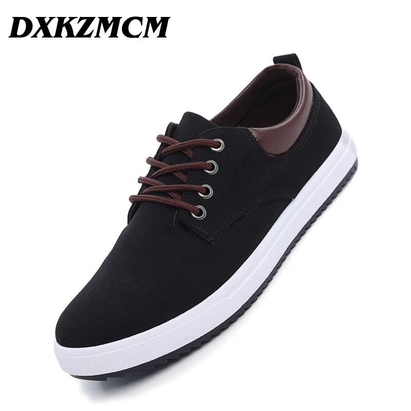 DXKZMCM Men casual shoes Man Flats Breathable Mens fashion Classic shoes Mens canvas Shoes