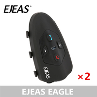 EJEAS Eagle Bluetooth Bicycle Helmet Intercom Headset 200hrs Standby Helmet Boomed Microphone for 2 Riders(Dual Pack)|Helmet Headsets| |  -