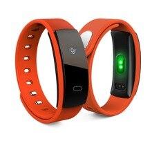 QS80 smart Сердечного ритма кремнезема моды Водонепроницаемый умный Браслет Bluetooth 4.0 часы браслет для IOS Android-смартфон