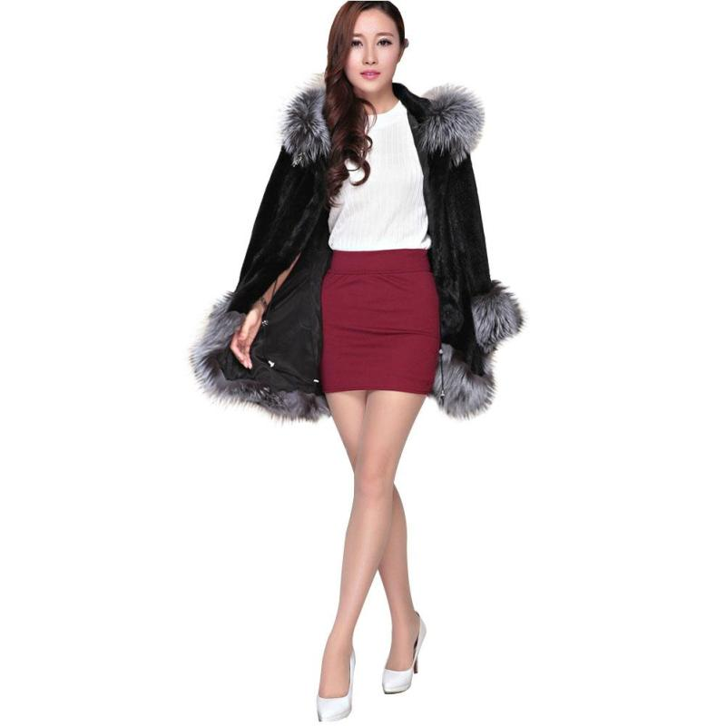 Winter 2017 New Women Coat Fashion Fur Collar Black White Color Female  Jacket Hooded Warm Thick Cotton Coats Hot Sell Tops Z3 fitness exercise training latex elastic pull ropes with accessories set of 5