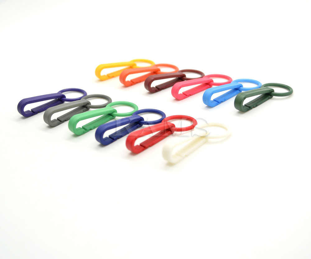 ... 12pcs Colorful Gloves Hook Plastic Buckles Snap Hook With O-Ring Used  For Shower Curtains ... c93ec356c7a56