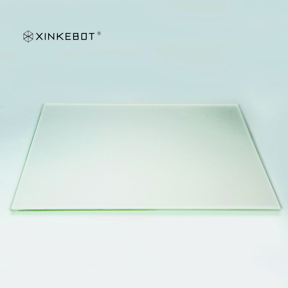 High Quality Super Flat Borosilicate Glass for Heated Bed of Xinkebot Orca2 Cygnus Large 3D Printer super mini 3d printer support usb or sd card connection createbot smallest 3d printer only 3kg net weight high quality for sale