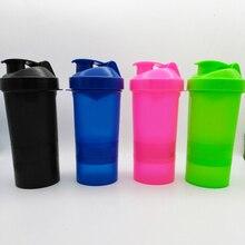 1 STÜCK Protein shaker mixer mixer cup sport fitness-studio 3 schichten multifunktions 500 ml BPA FREI kunststoff mein wasser flasche