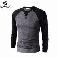T Shirts Men CONTRAST COLLAR T Shirts Compression Fitness Camisetas 2017 Black Grey Long Sleeve Tops