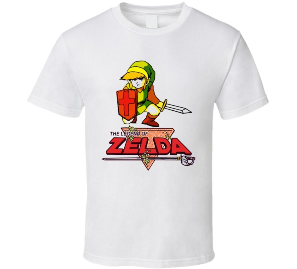 Legend Of Zelda Link Video Game T Shirt Streetwear Funny Print Clothing Hip-Tope Mans T-Shirt Tops Tees