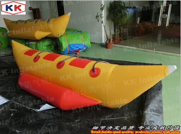 3 player inflatable water fly ski tube banana boat for sport game ...