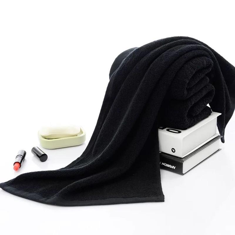 Turetrip 35x75 см черный Полотенца 100% хлопок волос Полотенца для салона отбеливать Сейф тренажерный зал ручной Полотенца мягкие абсорбирующие бы...