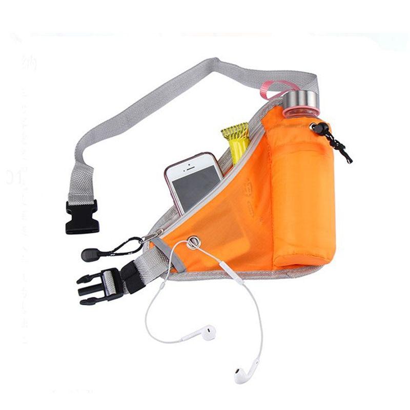 Adjustable Length Women Running Waist Bag Triangle Outdoor Pockets Hiking Climbing Cycling Running Belt Water Bottle Waist Bag