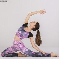 Women Tracksuit Yoga Sets unique color fashion Short Sleeve Sport Suit Fitness Sets Yoga Overalls Bodysuit Gym Clothing good its