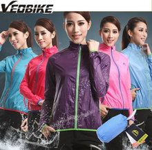 VEOBIKE Cycling WindProof Jacket ANTI-UV Ultralight Ultrathin Portable women Outdoor Professional Bike Cycling Sports Jacket