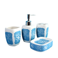 The Household Decor Bathroom Accessories Toothbrush Holder Bracket Dispenser Soap Dish Storage Bath Decoration 4 Pcs
