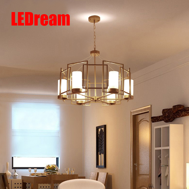 Postmodern t American contracted lights Nordic led double entry building villa droplight sitting room