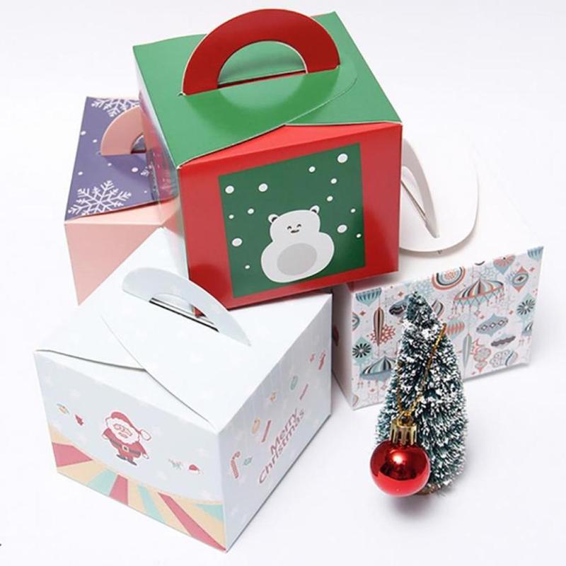 Feliz Navidad Festival del Partido Caja de Dulces plato de Postre Pastel de Caja