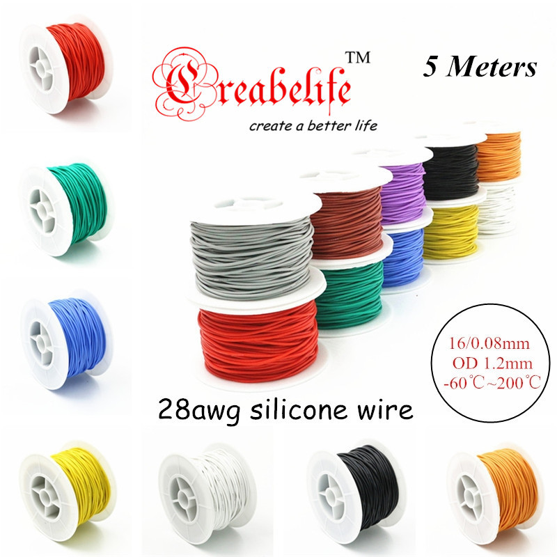 5 Meters 28 Awg Flexible Silicone Wire Rc Cable 28awg 16 0