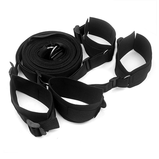 BDSM Adjustable Fetish Wrist Ankle Handcuffs Bed Banding Straps Bondage  Restraints Harness SM Products For Couples Adult Games