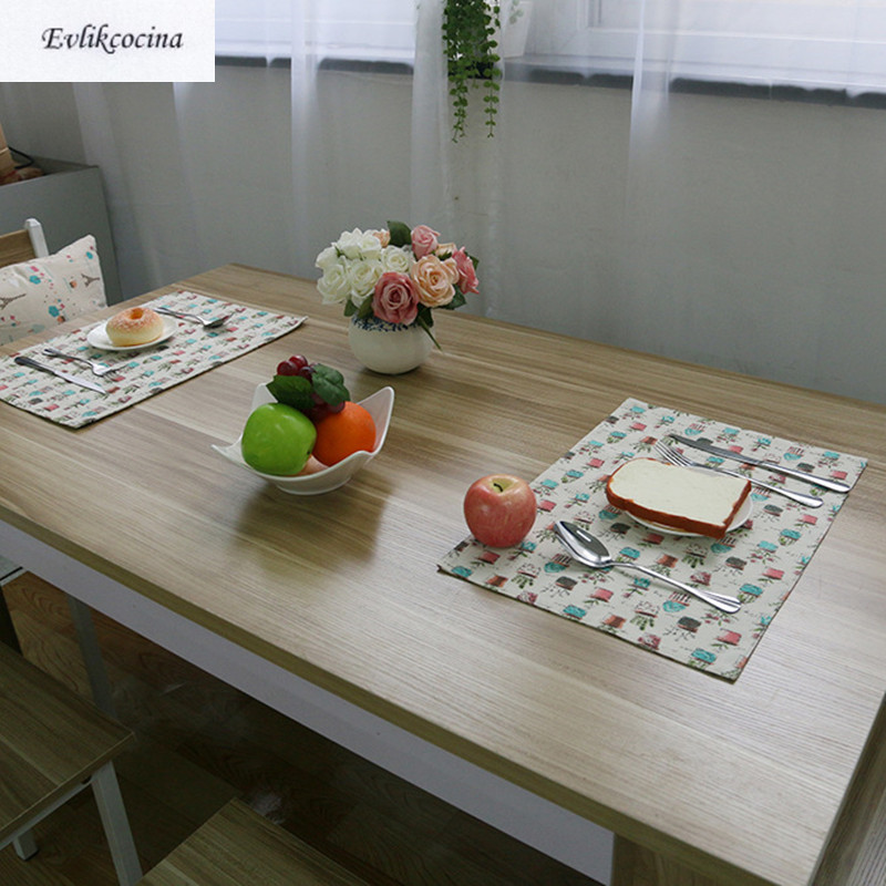 Free Shipping Flower Pots Placemat Dining Table Coaster Cloth Insulation Coffe Tea Cup P ...