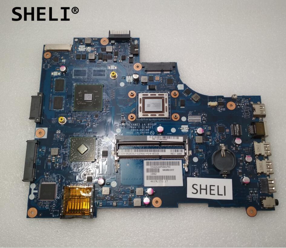 SHELI For DELL 5535 Motherboard with A4-5145M cpu VAW03 LA-9103P CN-0GDC8J 0GDC8J GDC8J sheli for dell 15z 5523 motherboard i5 3337u cn 0tvjw0 0tvjw0 tvjw0