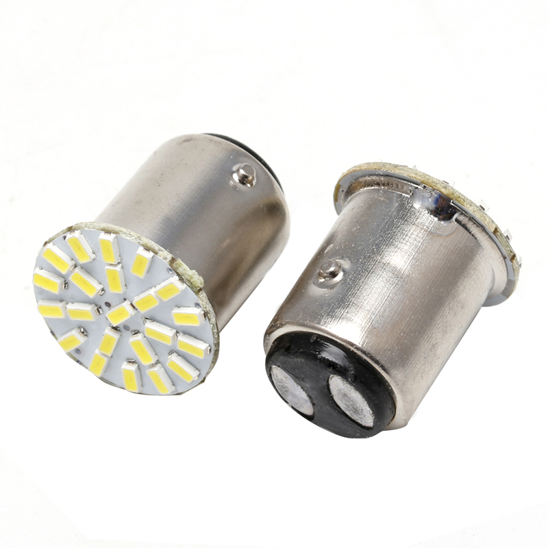 100 PCS Car 1157 LED BAY15D 3014 Chip 22SMD Auto LED Light Lamp Turn Signal Brake Lights White .2