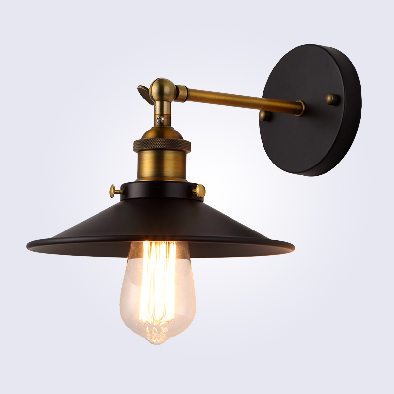 цены American vintage wall lamp indoor lighting bedside lamps wall lights for home diameter 22cm 110V/220V E27