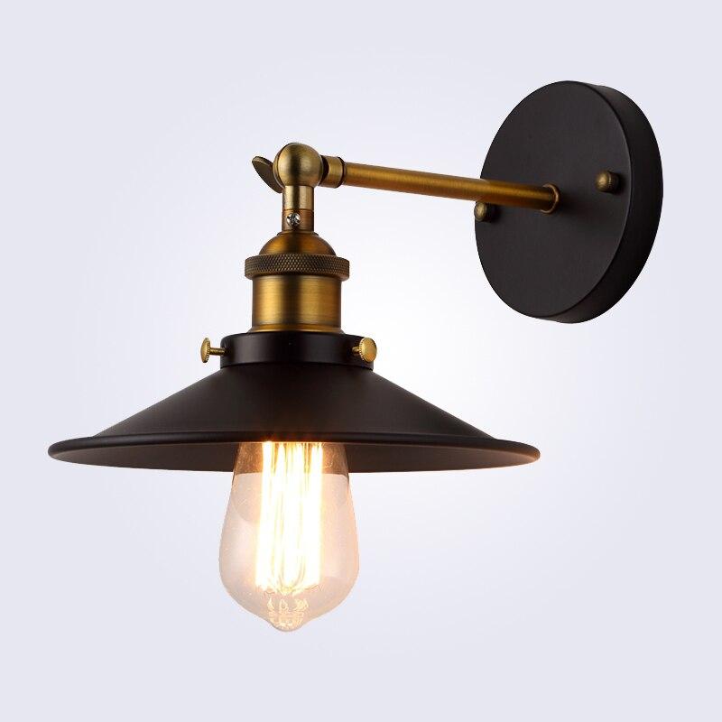 Amerikanischen vintage wandleuchte innenbeleuchtung nachttischlampen wandleuchten für home durchmesser 22 cm 110 V/220 V E27