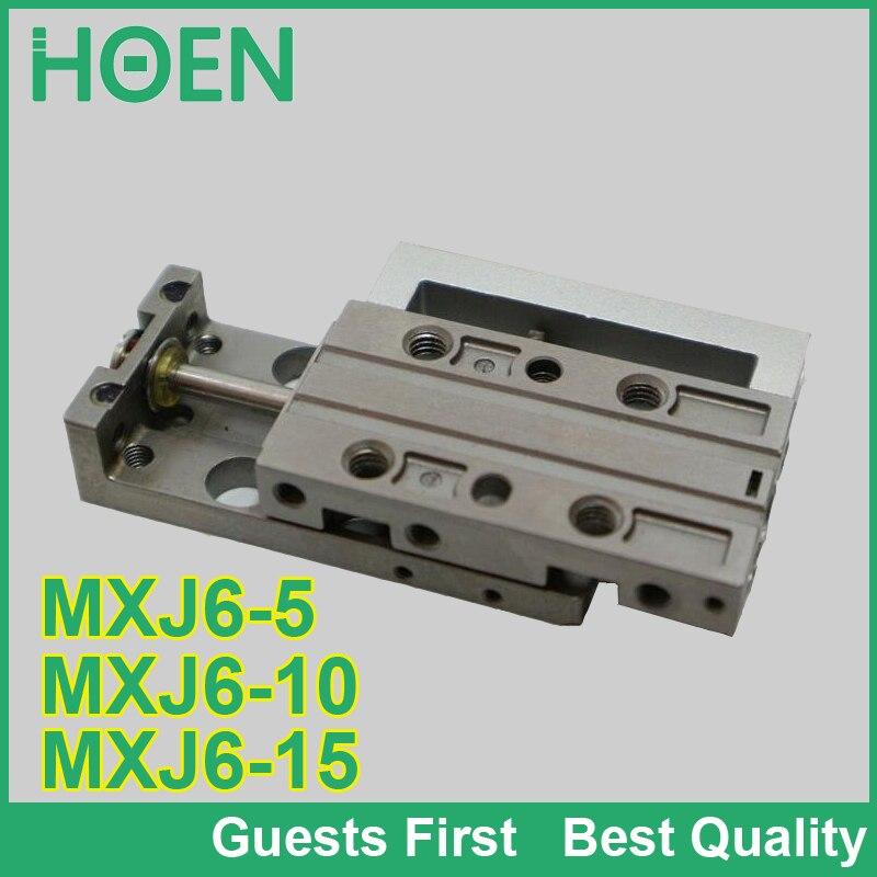 MXJ série glissière d'air table ylinder MXJ6-5 MXJ6-10 MXJ6-15 MXJ6-5C MXJ6-5CS mini vérin pneumatique glissière cylindre