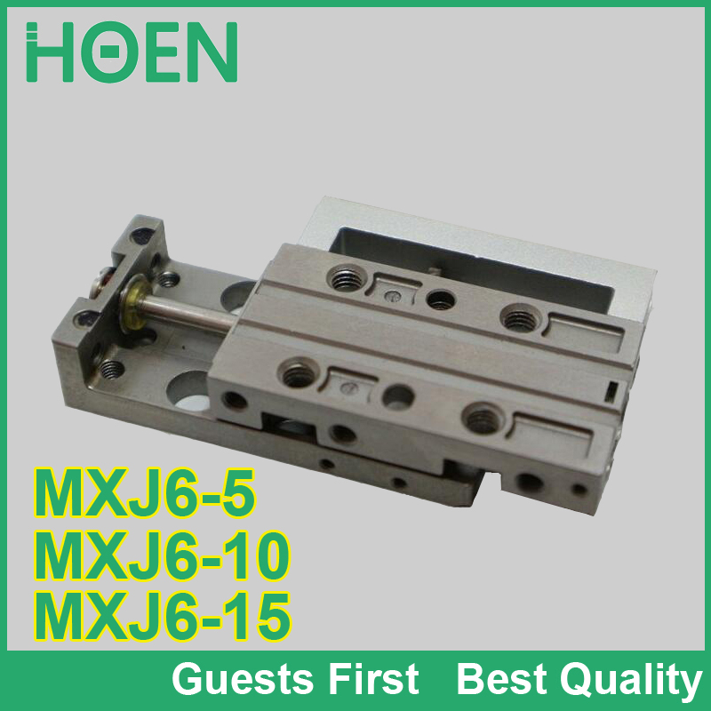 SMC type MXJ series air slide table ylinder MXJ6-5 MXJ6-10 MXJ6-15 MXJ6-5C MXJ6-5CS mini pneumatic cylinder slide cylinder smc type mxh16 5 pneumatic slider linear guide slide cylinder mxh16 5