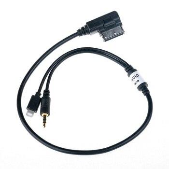 3,5 мм AUX аудио адаптер кабель MDI AMI MMI мужской интерфейс автомобильный зарядный адаптер для Audi A6L Q3 для IPhone 5 6 6s