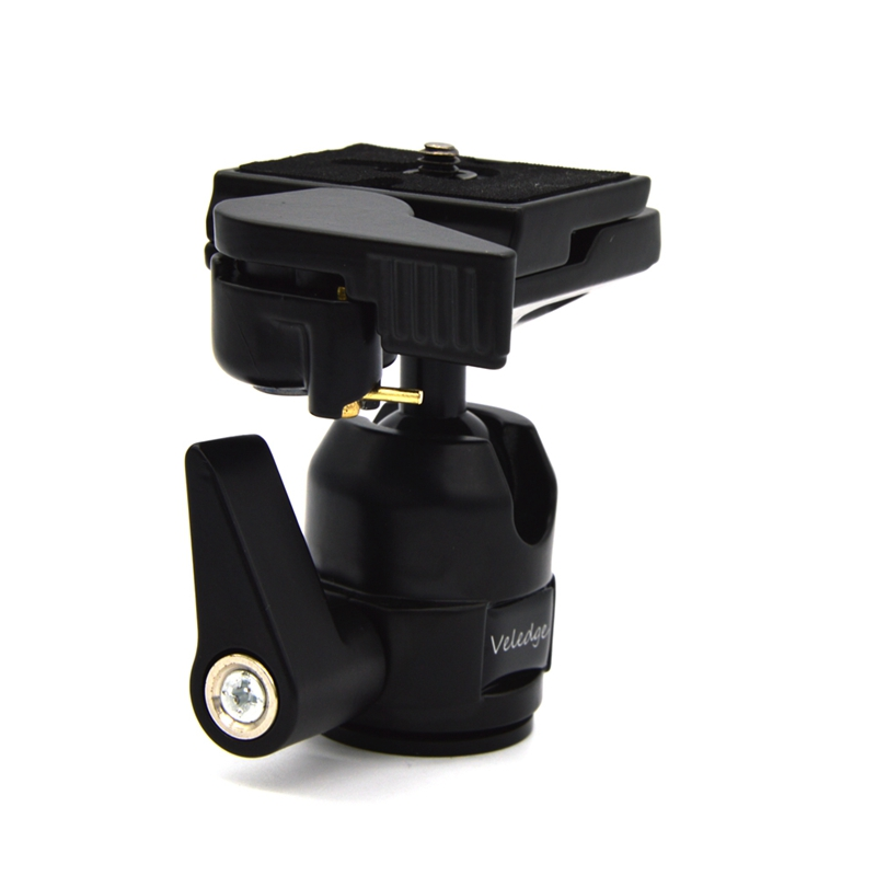 VELEDGE VD-10 360 Rotate Camera Camcorder Tripod Accessories Monopod Ball Head with Quick Release Plate with 1/4inch Screw