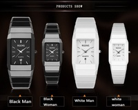 Lovers Couple Wrist Watch Ultrathin Watches Luxury Brand Fashion Waterproof Style Quartz Ceramics Watch Mens And