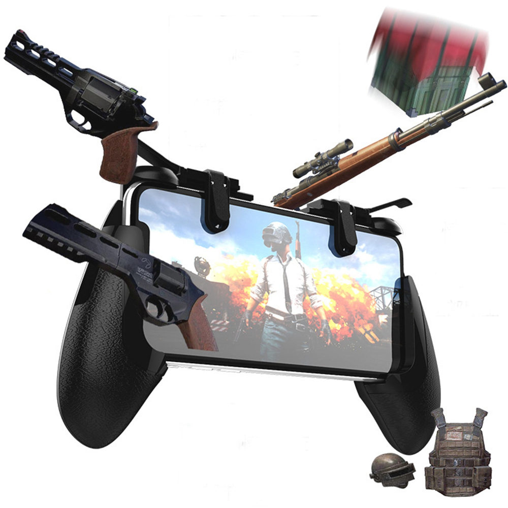 Mobile phone game trigger Gamepad Grip Fire Button L1R1 Shooter Controller gaming trigger for PUBG most touch screen devices