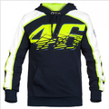 2016 New MOTO GP Valentino Rossi Racing Jackets The Doctor VR46 Hoodies Cotton Motorcycle VR 46 Black Hooded Sweatshirts 998
