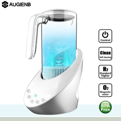 Augienb 1.5L LCD Touch High Concentration Hydrogen-Rich Water Jug Water Ionizer Generator Household Water Filter Purifier