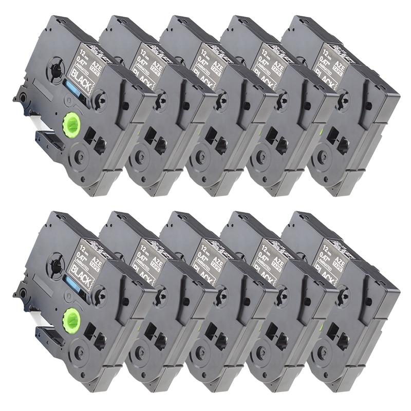 10 pcs/lot compatible TZe-335 TZ-335 tze335 tze 335 White on Black tze label tapes for Ptouch label printer thumbnail