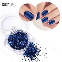 Rosalind 1 pièces ongles paillettes brillant galaxie Glitte bricolage vernis à ongles miroir magique manucure LED/lampe UV durci décoration Nail Art