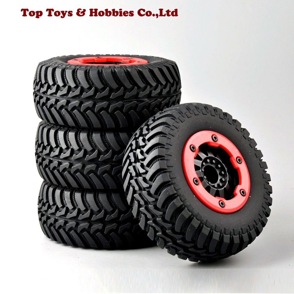 4pcs/ Set Tires And Bead-Lock Wheel 30004 For 1:10 RC Short Car Course Truck Motorbike TRAXXAS Slash