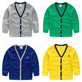 2016 Autumn Child Baby Boys Candy Color Cardigan Single Breasted Sweater
