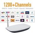 IPTV Árabe Europa Android Tv Box y 1200 Canal de Noticias Deportivas CIELO Canales de IPTV VOD 1G/8G Fuerte Señal WIFI HD IPTV Set Top Box