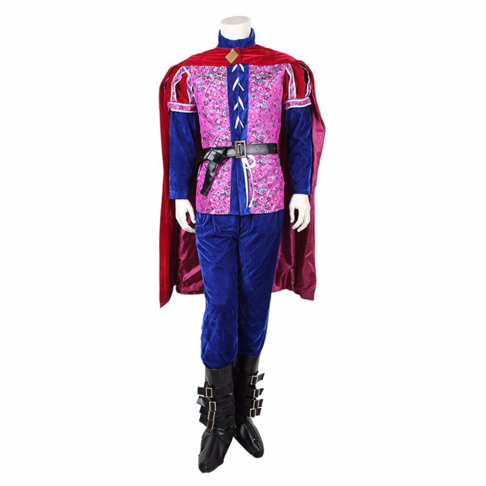 Free Shipping Custom-made Sleeping Beauty Prince Phillip Cosplay Costume Prince Cosplay Costume L0516