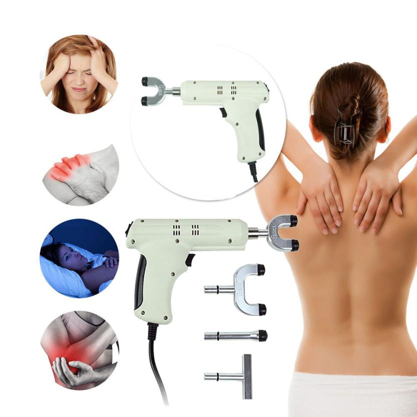 New Electric Chiropractic Adjusting Tool Therapy Spine Activator Massager White Aug 3