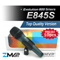 Free Shipping! Wholesales 10pcs/lot Top Quality E845 Dynamic Cardioid Vocal Handheld Karaoke Wired Microphone microfone Mike Mic