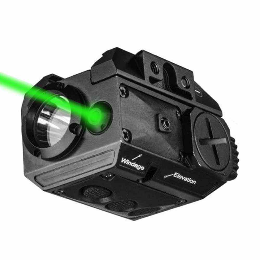 מלא גודל ירוק לייזר משולבת אור טקטי נשק אור שמתחת לאפס לפיד לאקדח אקדח רובה עבור Picatinny רכבת